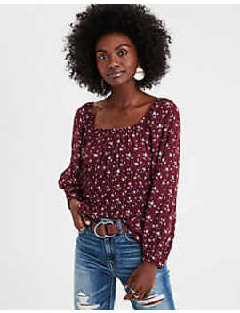 Ae Smocked Blouse by American Eagle Outfitters
