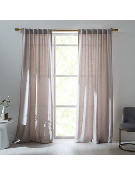 Imperial Shine Textured Curtain   Chateau Gray by West Elm