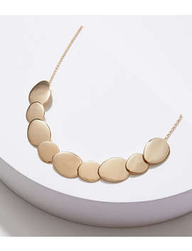 Matte & Polished Disc Necklace by Loft