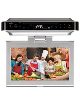 Ilive Bluetooth Wireless Under The Counter Cabinet Kitchen Led Tv/Dvd Combo by I Live