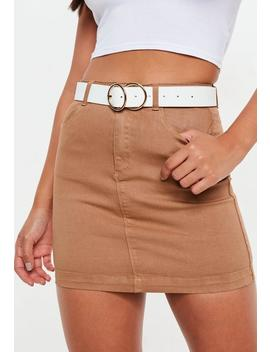 White Double Ring Belt by Missguided