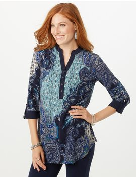 Paisley Tunic Top by Dressbarn