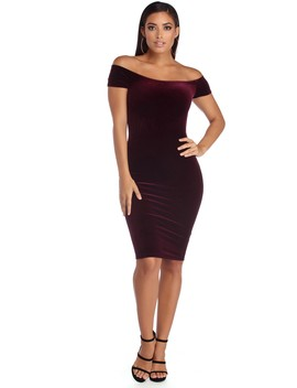 Lustrous Velvet Dress by Windsor