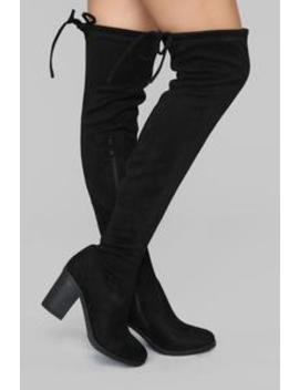 To Be Or Not Be Heeled Boot   Black by Fashion Nova