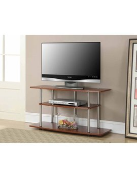 Convenience Concepts Designs2 Go No Tools 3 Tier Wide Tv Stand, Cherry, Multiple Colors by Convenience Concepts