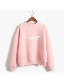 New 2018 Hoody Spring Autumn Long Sleeve Casual Harajuku Pink Sweatshirt Women Cute Printed Hoodies Moletom Feminino Oversize by Hua Qi Guo