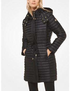 Quilted Satin Puffer by Michael Michael Kors