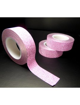 Glitter Washi Tape In Pink   Paper Tape Great For Scrapbooking Paper Crafts And Decorations   Light Pink  15mm X 10m by Etsy