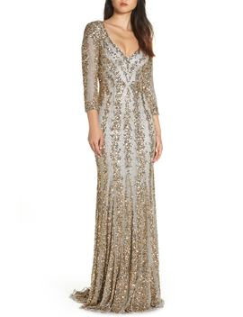 Sequin Gown by Mac Duggal
