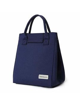 Tote Bento Lunch Bag Insulated Lunch Cooler For Kids Girls Women Stylish Waterproof (Navy Blue) by Oneyongs