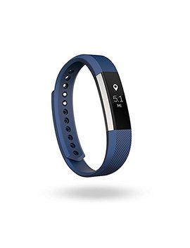 Fitbit Alta Fitness Tracker, Silver/Blue, Large (Us Version) by Fitbit