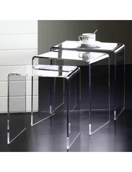 Clear Acrylic Nesting Tables (Set Of 3) by Generic