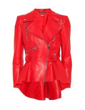 Peplum Leather Jacket by Alexander Mc Queen