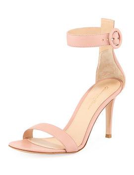 Portofino Napa Ankle Strap 85mm Sandal by Gianvito Rossi