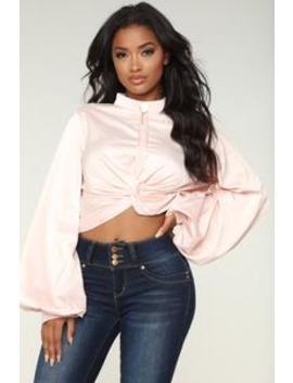 Beau Long Sleeve Top   Pink by Fashion Nova