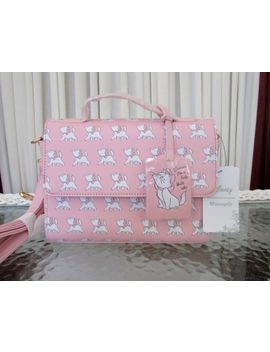 Disney Loungefly Marie Aristocats I'm A Lady Crossbody Purse Pink Nwt by Loungefly