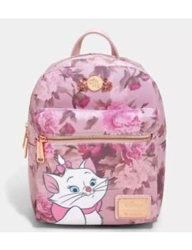 Brand New Disney Loungefly The Aristocats Marie Floral Pink Mini Backpack Bag by Loungefly