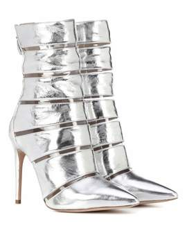 Sommer Metallic Leather Ankle Boots by Alexandre Birman