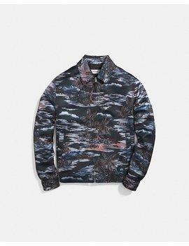 Hawaiian Print Skater Jacket by Coach