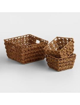 Brown Betty Coin Weave Baskets by World Market