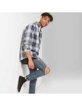 Men's Plaid Long Sleeve Washed Flannel Shirt   Original Use™ by Original Use™