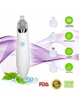 Blackhead Remover Vacuum, Electric Skin Pore Cleaner Blackhead Vacuum Suction Removal Rechargeable Skin Peeling Machine Comedone Acne Eliminator Device For Nose... by Vg Star