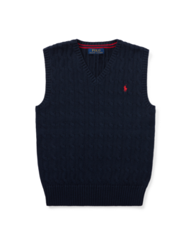 Cable Knit Cotton Sweater Vest by Ralph Lauren