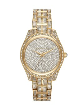 Women's Lauryn Three Hand Gold Tone Stainless Steel Watch by Michael Kors