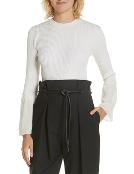 Chiffon Cuff Silk Blend Sweater by 3.1 Phillip Lim