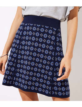 Mosaic Sweater Flippy Skirt by Loft