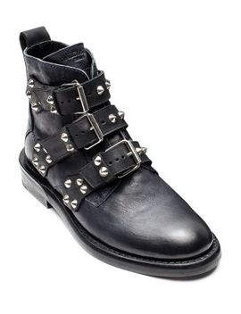 Women's Laureen Leather Spiked Booties by Zadig & Voltaire