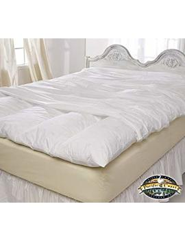"""Queen Size Zippered Featherbed Cover   60"""" X 80"""" by Pacific Pillows"""