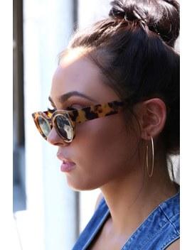 Damn Gina Tortoise Cat Eye Sunglasses by Lulus