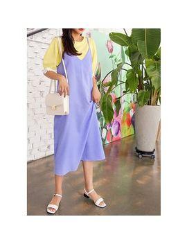 J Ann   Plus Size Sleeveless Linen Midi Dress by J Ann
