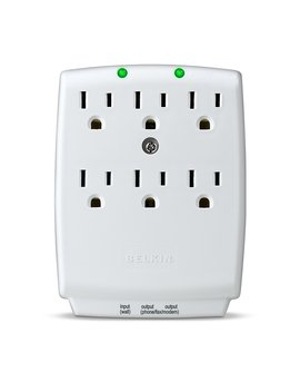 Belkin 6 Outlet Surge Master Wall Mount Surge Protector, 1240 Joules (F9 H620 Cw) by Belkin