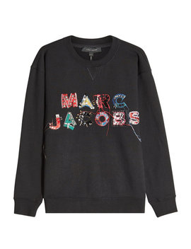 Embroidered And Embellished Cotton Sweatshirt by Marc Jacobs