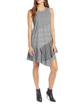 Sleeveless Plaid Mix A Line Dress by Halogen®