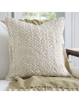 Eider & Ivory Bradninch Velvet Quilted Pillow Cover & Reviews by Eider & Ivory