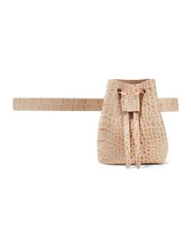 Minee Croc Effect Leather Belt Bag by Nanushka