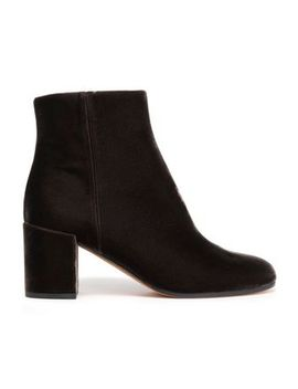 Velvet Ankle Boots by Vince.