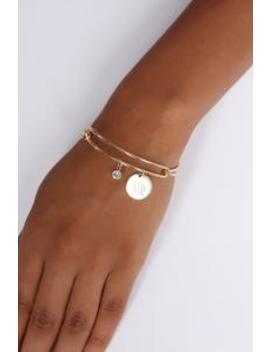 Virgo Please Sign Here Bracelet   Gold by Fashion Nova