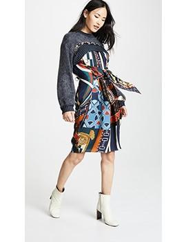 Patterned Long Sleeve Dress by Kolor