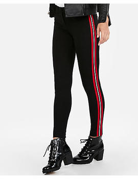 Mid Rise Side Stripe Skinny Pant by Express