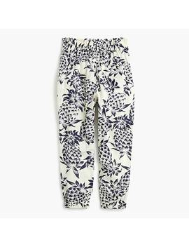 Girls' Drawstring Pant In Pineapple Print by J.Crew