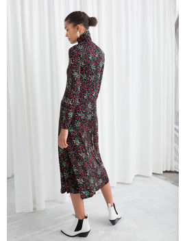 Printed Turtleneck Midi Dress by & Other Stories