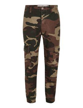 Camouflage Cargo Skinny Pants by Topman