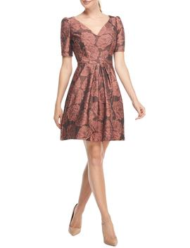 Ingrid Jacquard Fit & Flare Dress by Gal Meets Glam Collection