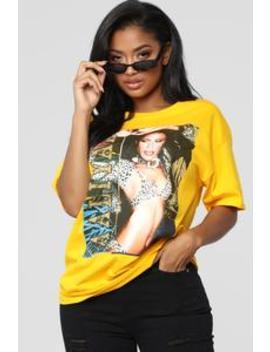 Aaliyah Tunic Tee   Mustard by Fashion Nova