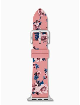 Silicone Pink Floral Apple Watch® Strap by Kate Spade