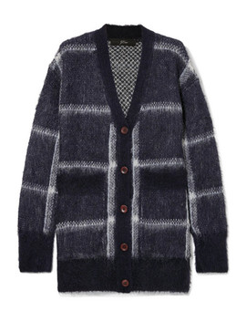 Lian Checked Brushed Knitted Cardigan by J.Crew
